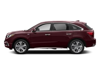 Dark Cherry Pearl 2017 Acura MDX Pictures MDX Utility 4D Technology AWD Hybrid photos side view