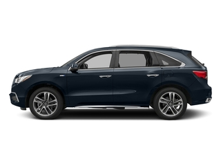 Fathom Blue Pearl 2017 Acura MDX Pictures MDX Utility 4D Advance AWD Hybrid photos side view