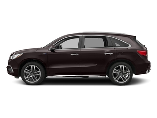 Black Copper Pearl 2017 Acura MDX Pictures MDX Utility 4D Advance AWD Hybrid photos side view