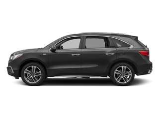 Modern Steel Metallic 2017 Acura MDX Pictures MDX Utility 4D Advance AWD Hybrid photos side view
