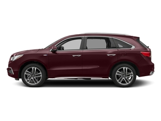 Dark Cherry Pearl 2017 Acura MDX Pictures MDX Utility 4D Advance AWD Hybrid photos side view