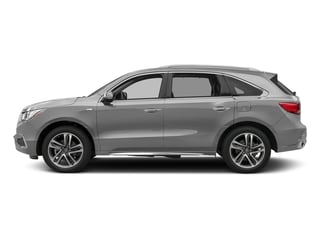 Lunar Silver Metallic 2017 Acura MDX Pictures MDX Utility 4D Advance AWD Hybrid photos side view