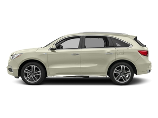 White Diamond Pearl 2017 Acura MDX Pictures MDX Utility 4D Advance AWD Hybrid photos side view