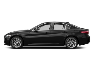Vulcano Black Metallic 2017 Alfa Romeo Giulia Pictures Giulia AWD photos side view