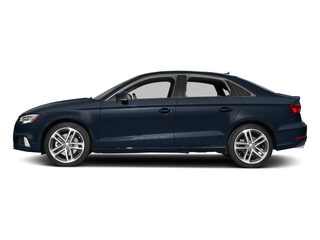 Cosmos Blue Metallic 2017 Audi A3 Sedan Pictures A3 Sedan 4D 2.0T Prestige I4 Turbo photos side view
