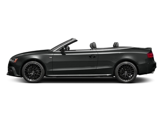 Mythos Black Metallic/Black Roof 2017 Audi A5 Cabriolet Pictures A5 Cabriolet Convertible 2D Sport AWD photos side view