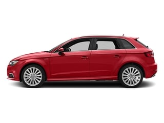 Tango Red Metallic 2017 Audi A3 Sportback e-tron Pictures A3 Sportback e-tron Hatchback 5D E-tron Premium Plus photos side view