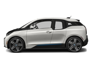 Capparis White w/BMW i Frozen Blue Accent 2017 BMW i3 Pictures i3 Hatchback 4D 94 AH w/Range Extender photos side view
