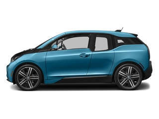 Protonic Blue Metallic w/Frozen Gray Accent 2017 BMW i3 Pictures i3 Hatchback 4D 94 AH w/Range Extender photos side view