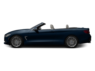 Midnight Blue Metallic 2017 BMW 4 Series Pictures 4 Series Convertible 2D 430xi AWD I4 Turbo photos side view