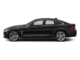 Black Sapphire Metallic 2017 BMW 4 Series Pictures 4 Series Sedan 4D 430xi AWD I4 Turbo photos side view