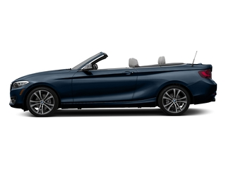 Midnight Blue Metallic 2017 BMW 2 Series Pictures 2 Series Convertible 2D 230xi AWD I4 Turbo photos side view
