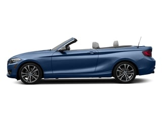 Estoril Blue Metallic 2017 BMW 2 Series Pictures 2 Series Convertible 2D 230xi AWD I4 Turbo photos side view