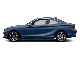 Estoril Blue Metallic 2017 BMW 2 Series Pictures 2 Series Coupe 2D 230xi AWD I4 Turbo photos side view