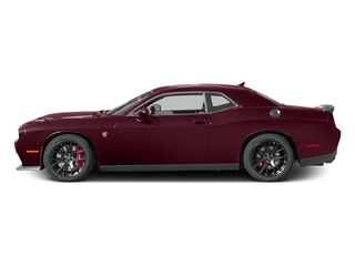 Octane Red Pearlcoat 2017 Dodge Challenger Pictures Challenger SRT Hellcat Coupe photos side view