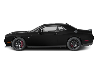 Pitch Black Clearcoat 2017 Dodge Challenger Pictures Challenger Coupe 2D SRT Hellcat V8 Supercharged photos side view