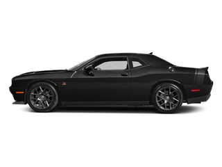 Pitch Black Clearcoat 2017 Dodge Challenger Pictures Challenger 392 Hemi Scat Pack Shaker Coupe photos side view