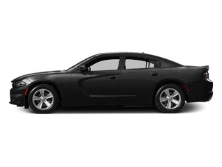 Pitch Black Clearcoat 2017 Dodge Charger Pictures Charger Sedan 4D SE AWD V6 photos side view