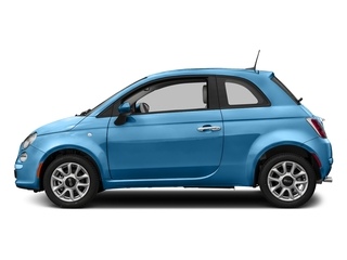 Laser Blu (Bright Metallic Blue) 2017 FIAT 500 Pictures 500 Lounge Hatch photos side view