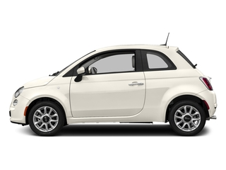 Bianco (White) 2017 FIAT 500 Pictures 500 Lounge Hatch photos side view