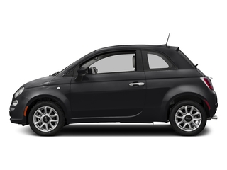 Nero Puro (Straight Black) 2017 FIAT 500 Pictures 500 Lounge Hatch photos side view