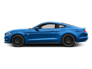 Grabber Blue 2017 Ford Mustang Pictures Mustang Coupe 2D GT V8 photos side view