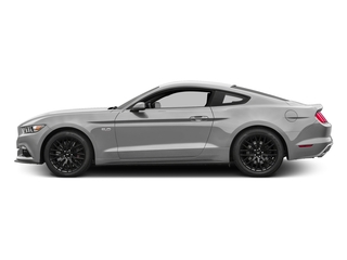 Ingot Silver Metallic 2017 Ford Mustang Pictures Mustang Coupe 2D GT V8 photos side view