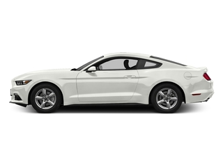 White Platinum Metallic Tri-Coat 2017 Ford Mustang Pictures Mustang Coupe 2D EcoBoost I4 Turbo photos side view