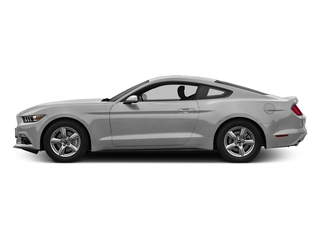 Ingot Silver Metallic 2017 Ford Mustang Pictures Mustang Coupe 2D EcoBoost I4 Turbo photos side view