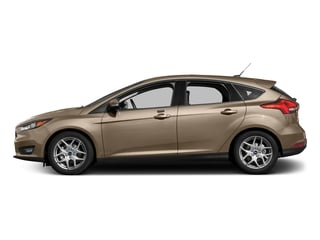White Gold Metallic 2017 Ford Focus Pictures Focus Hatchback 5D SE I4 photos side view