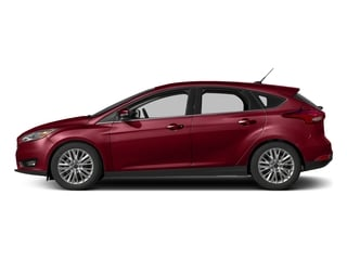 Ruby Red Metallic Tinted Clearcoat 2017 Ford Focus Pictures Focus Hatchback 5D Titanium I4 photos side view