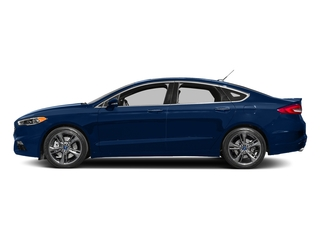 Lightning Blue 2017 Ford Fusion Pictures Fusion Sedan 4D Sport EcoBoost V4 Turbo photos side view