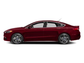 Ruby Red Metallic Tinted Clearcoat 2017 Ford Fusion Pictures Fusion Sedan 4D Sport EcoBoost V4 Turbo photos side view