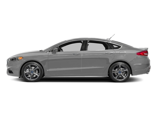 Ingot Silver 2017 Ford Fusion Pictures Fusion Sedan 4D Sport EcoBoost V4 Turbo photos side view