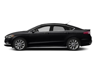 Shadow Black 2017 Ford Fusion Pictures Fusion Sedan 4D Platinum AWD I4 Turbo photos side view