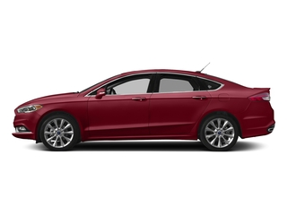 Ruby Red Metallic Tinted Clearcoat 2017 Ford Fusion Pictures Fusion Sedan 4D Platinum AWD I4 Turbo photos side view