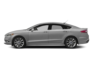 Ingot Silver 2017 Ford Fusion Pictures Fusion Sedan 4D Platinum AWD I4 Turbo photos side view