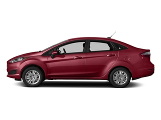 Ruby Red Metallic Tinted Clearcoat 2017 Ford Fiesta Pictures Fiesta Sedan 4D SE I4 photos side view