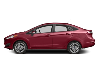 Ruby Red Metallic Tinted Clearcoat 2017 Ford Fiesta Pictures Fiesta Sedan 4D Titanium I4 photos side view