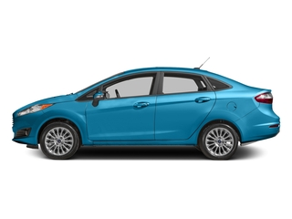 Blue Candy Metallic Tinted Clearcoat 2017 Ford Fiesta Pictures Fiesta Sedan 4D Titanium I4 photos side view