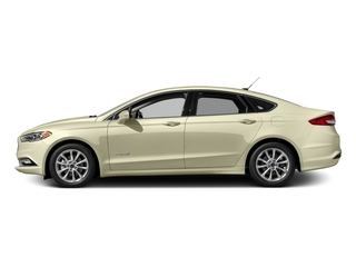 White Gold 2017 Ford Fusion Pictures Fusion Sedan 4D SE I4 Hybrid photos side view