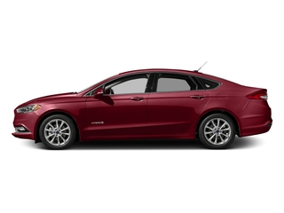 Ruby Red Metallic Tinted Clearcoat 2017 Ford Fusion Pictures Fusion Sedan 4D SE I4 Hybrid photos side view