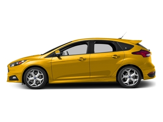 Triple Yellow Metallic Tri-Coat 2017 Ford Focus Pictures Focus Hatchback 5D ST I4 Turbo photos side view