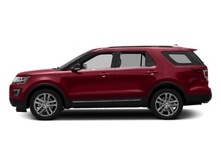 Ruby Red Metallic Tinted Clearcoat 2017 Ford Explorer Pictures Explorer Utility 4D XLT 4WD V6 photos side view