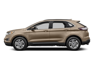 White Gold Metallic 2017 Ford Edge Pictures Edge Utility 4D SEL 2WD V6 photos side view