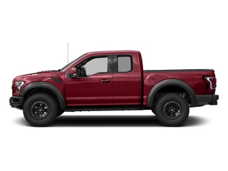 Ruby Red Metallic Tinted Clearcoat 2017 Ford F-150 Pictures F-150 SuperCab Raptor 4WD photos side view
