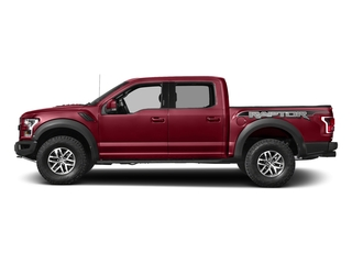 Ruby Red Metallic Tinted Clearcoat 2017 Ford F-150 Pictures F-150 Crew Cab Raptor 4WD photos side view