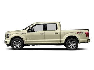 White Gold 2017 Ford F-150 Pictures F-150 Crew Cab Platinum 2WD photos side view