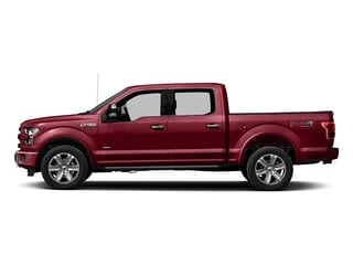 Ruby Red Metallic Tinted Clearcoat 2017 Ford F-150 Pictures F-150 Crew Cab Platinum 2WD photos side view