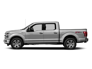 Ingot Silver Metallic 2017 Ford F-150 Pictures F-150 Crew Cab Platinum 2WD photos side view